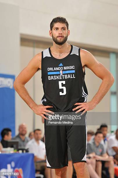 Patricio Garino of Magic White is senn against the New York Knicks on July 6 2016 during Summer League at the Amway Center in Orlando Florida NOTE TO...