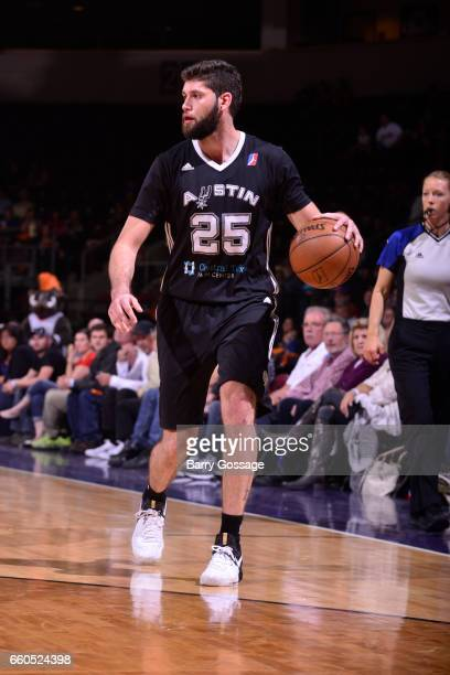 Patricio Garino of the Austin Spurs dribbles the ball against the Northern Arizona Suns on March 29 2017 at Prescott Valley Event Center in Prescott...
