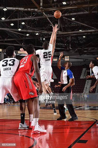 Patricio Garino of the Austin Spurs goes for the jump ball during the game against the Rio Grande Valley Vipers as part of 2017 NBA DLeague Showcase...