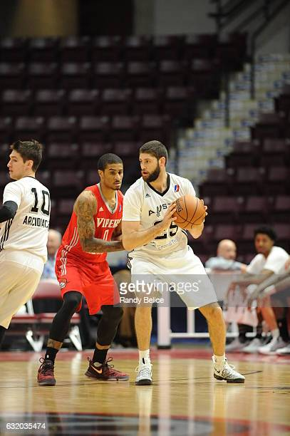 Patricio Garino of the Austin Spurs handles the ball during a game against the Rio Grande Valley Vipers as part of 2017 NBA DLeague Showcase at the...