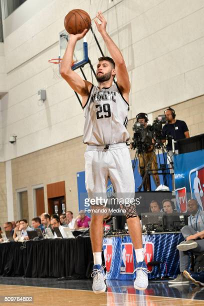 Patricio Garino of the Orlando Magic shoots the ball against the Charlotte Hornets during the Mountain Dew Orlando Pro Summer League on July 6 2017...
