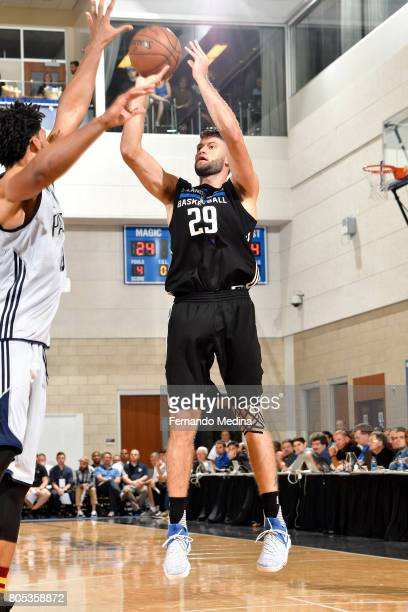 Patricio Garino of the Orlando Magic shoots the ball during the game against the Indiana Pacers during the 2017 Orlando Summer League on July 1 2017...