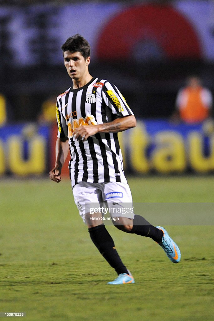 Patricio Rodriguez player of Santos during a match between Corinthians and Santos as part of the Brazilian Serie A Championship 2012 at Pacaembu Stadium on November 24, 2012 in Sao Paulo, Brazil.