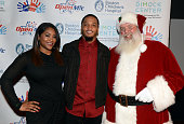Patrick and CeCe Chung attend Patrick Chung's Open Mic Holiday Party along with Santa benefiting Boston Children's Hospital at Patriot Place December...