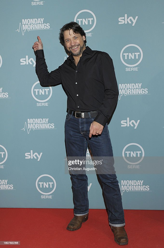 Patrick Bach attends the 'Monday Mornings' Preview Event of TNT Serie at East Hotel on February 5th, 2013 in Hamburg, Germany. The series premieres on February 7th (every Thursday at 8:15 pm on TNT Serie).