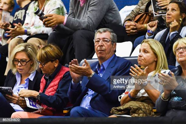 Patrick Balkany mayor of Levallois during the Pro A match between Levallois and Monaco on September 23 2017 in LevalloisPerret France