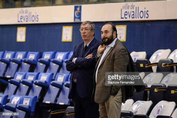 Patrick Balkany mayor of Levallois during the Pro A match between Levallois and Limoges on October 7 2017 in LevalloisPerret France