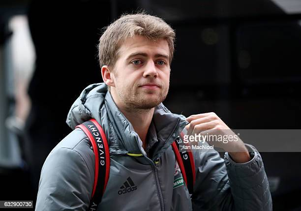 Patrick Bamford of Middlesborough arrives prior to the Emirates FA Cup Fourth Round match between Middlesbrough and Accrington Stanley at Riverside...