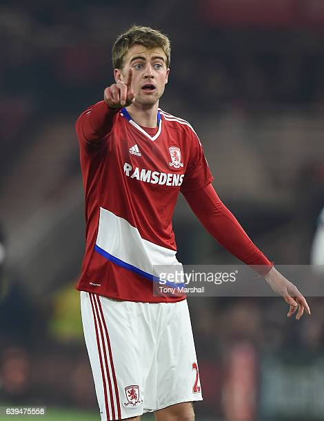 Patrick Bamford of Middlesbrough during the Premier League match between Middlesbrough and West Ham United at Riverside Stadium on January 21 2017 in...