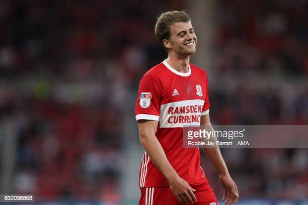 Patrick Bamford of Middlesbrough during the Sky Bet Championship match between Middlesbrough and Burton Albion at Riverside Stadium on August 15 2017...