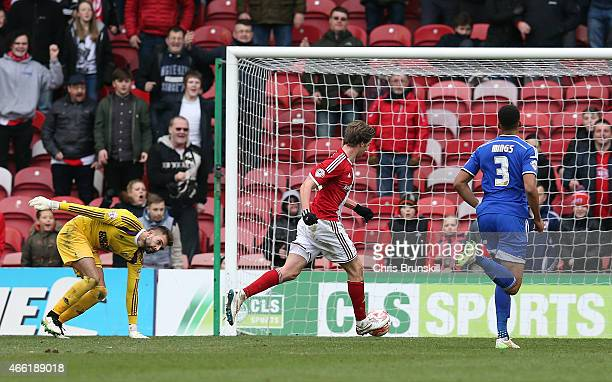 Patrick Bamford of Middlesbrough scores his side's third goal during the Sky Bet Championship match between Middlesbrough and Ipswich Town at the...
