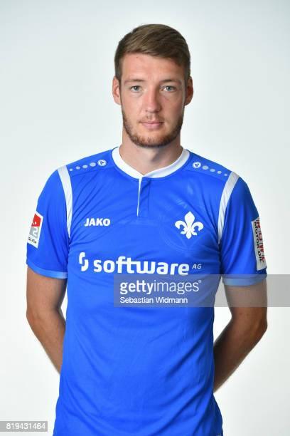 Patrick Banggaard of SV Darmstadt 98 poses during the team presentation at MerckStadion am Boellenfalltor on July 20 2017 in Darmstadt Germany