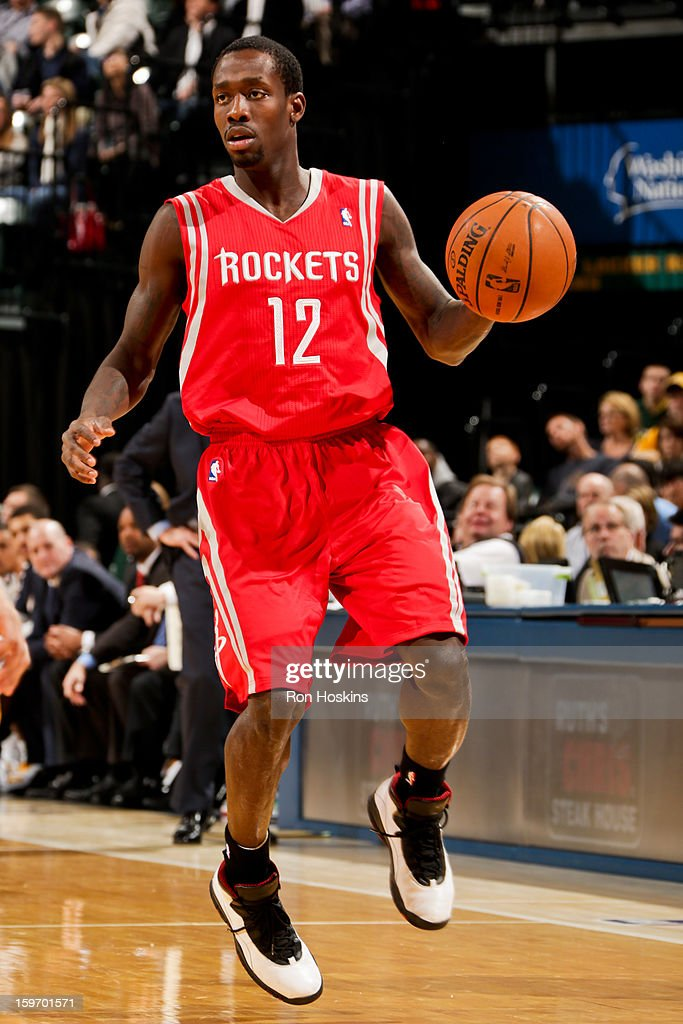 Patrick Beverley #12 of the Houston Rockets controls the ball against the Indiana Pacers of the Indiana Pacers of the Houston Rockets on January 18, 2013 at Bankers Life Fieldhouse in Indianapolis, Indiana.