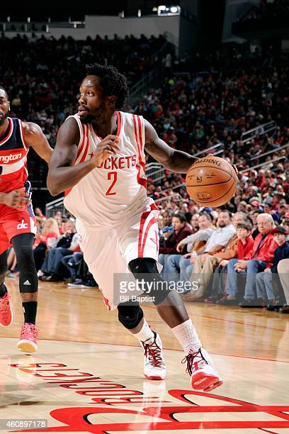 Patrick Beverley of the Houston Rockets drives against the Washington Wizards on December 29 2014 at Toyota Center in Houston Texas NOTE TO USER User...