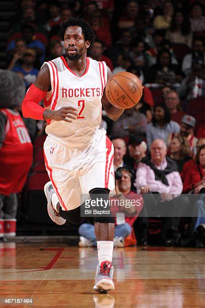 Patrick Beverley of the Houston Rockets drives to the basket against the Phoenix Suns during the game on March 21 2015 at Toyota Center in Houston...