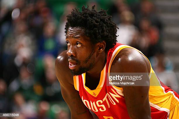 Patrick Beverley of the Houston Rockets during the game against the Utah Jazz on March 12 2015 at EnergySolutions Arena in Salt Lake City Utah NOTE...