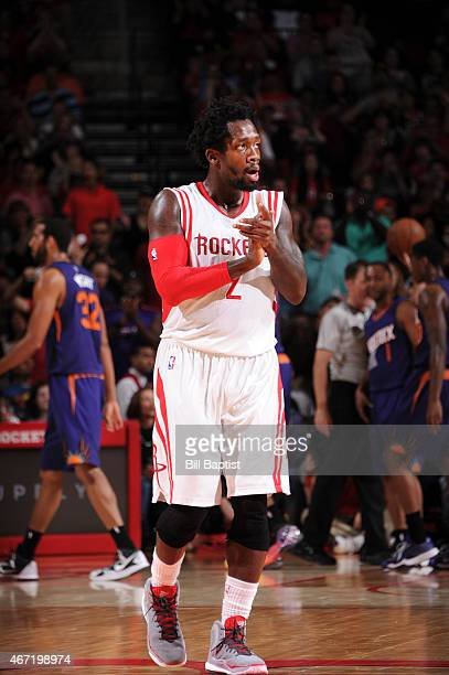 Patrick Beverley of the Houston Rockets during the game against the Phoenix Suns on March 21 2015 at Toyota Center in Houston Texas NOTE TO USER User...
