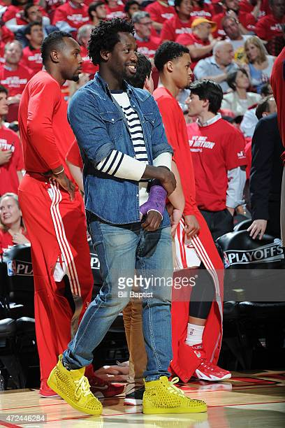 Patrick Beverley of the Houston Rockets during the game against the Los Angeles Clippers in Game Two of the Western Conference Semifinals during the...