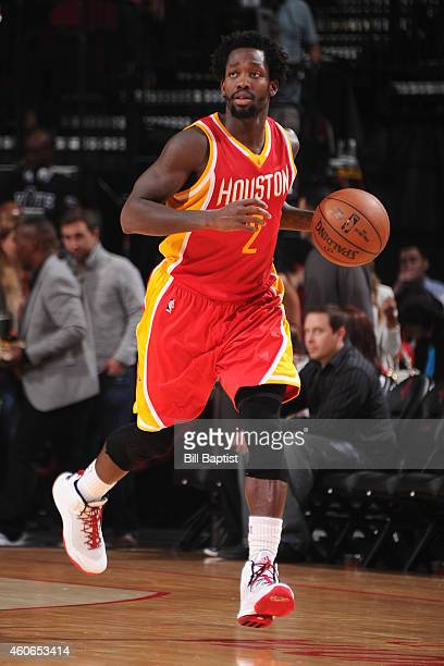 Patrick Beverley of the Houston Rockets handles the ball against the New Orleans Pelicans on December 18 2014 at the Toyota Center in Houston Texas...
