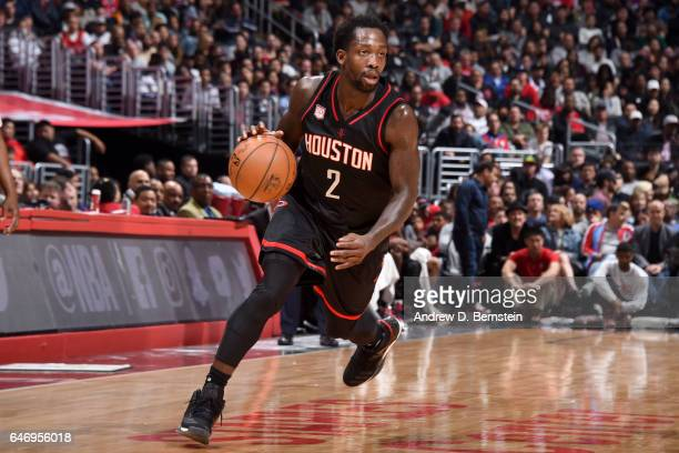 Patrick Beverley of the Houston Rockets handles the ball against the Los Angeles Clippers on March 1 2017 at STAPLES Center in Los Angeles California...