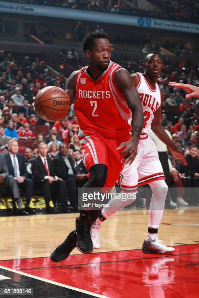 Patrick Beverley of the Houston Rockets handles the ball against the Chicago Bulls on March 10 2017 at the United Center in Chicago Illinois NOTE TO...