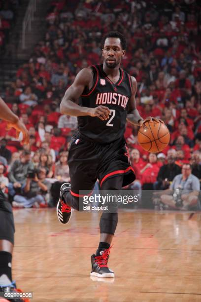 Patrick Beverley of the Houston Rockets handles the ball against the Oklahoma City Thunder during the Western Conference Quarterfinals of the 2017...