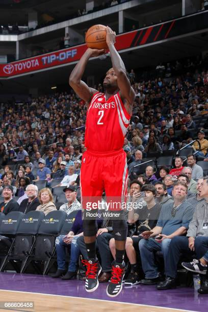 Patrick Beverley of the Houston Rockets shoots the ball against the Sacramento Kings on April 9 2017 at Golden 1 Center in Sacramento California NOTE...