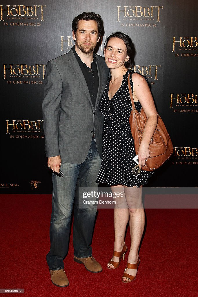 Patrick Brammall and Samantha Nield attend the Melbourne premiere of 'The Hobbit: An Unexpected Journey' at Village Cinemas on December 18, 2012 in Melbourne, Australia.