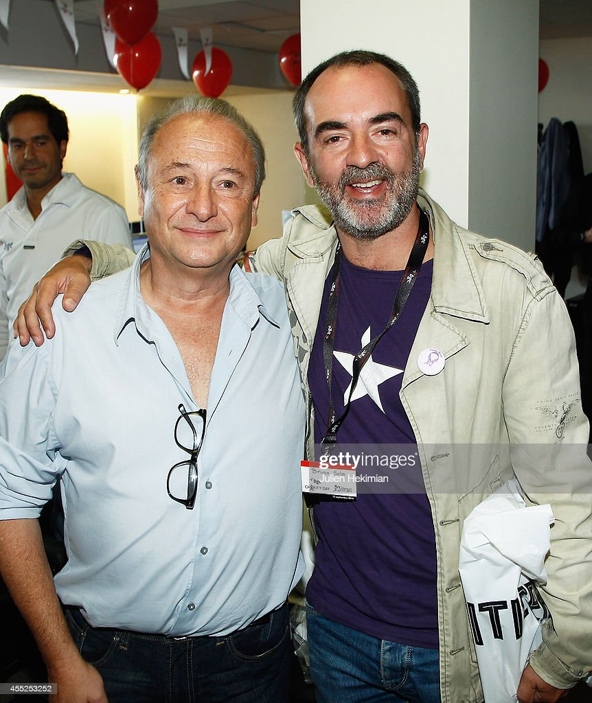Patrick Braoude and Bruno Solo attend Aurel BCG Charity Benefit Day 2014 on September 11 2014 in Paris France