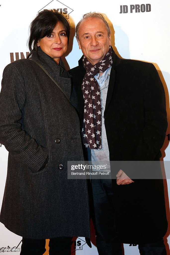 Patrick Braoude and his wife Guila attend The 'Un Une' Paris Premiere At Cinema UGC Normandie at Cinema UGC Normandie on November 23 2015 in Paris...