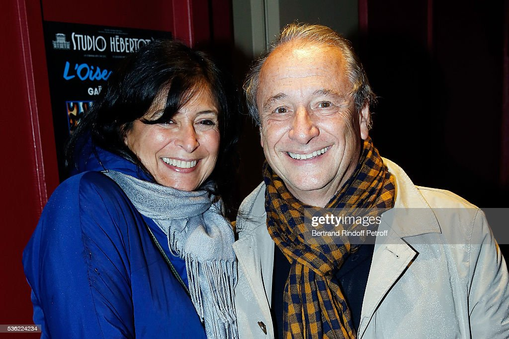Patrick Braoude and his wife Guila Braoude attend 'L'oiseau Bleu' at Theatre Hebertot on May 31 2016 in Paris France