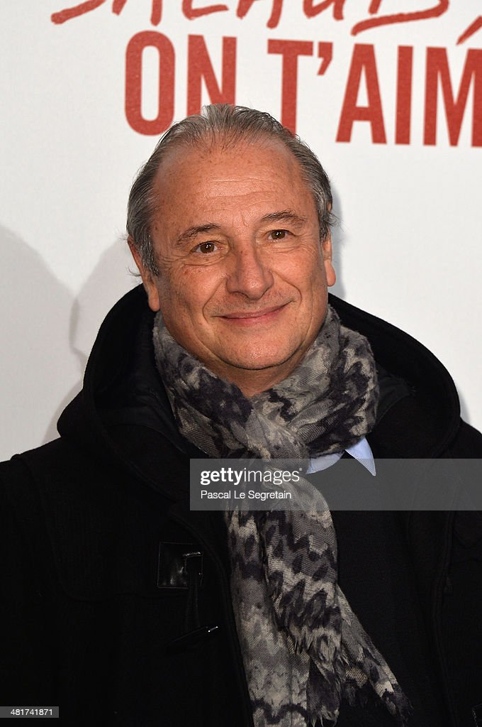 Patrick Braoude attends 'Salaud On T'Aime' Paris Premiere at Cinema UGC Normandie on March 31 2014 in Paris France