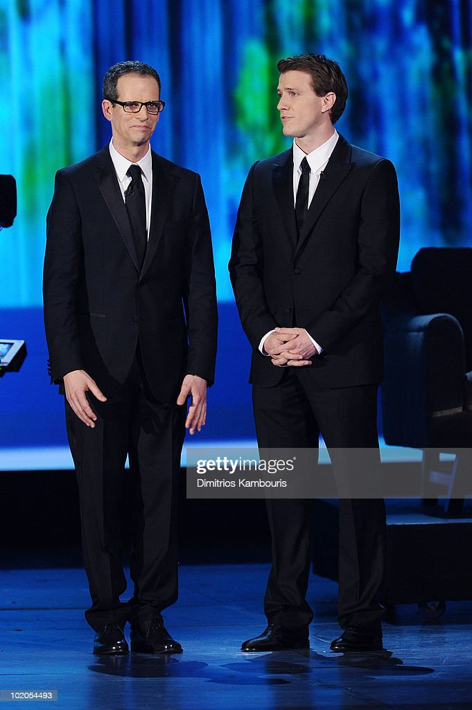 Patrick Breen and Patrick Heusinger speak onstage during the 64th Annual Tony Awards at Radio City Music Hall on June 13, 2010 in New York City.