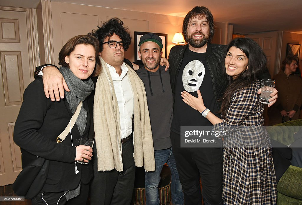 Patrick Brendan O'Neill (2R) and guests attend a special screening of 'The Uncountable Laughter of The Sea' at Soho House Dean Street on February 6, 2016 in London, England.
