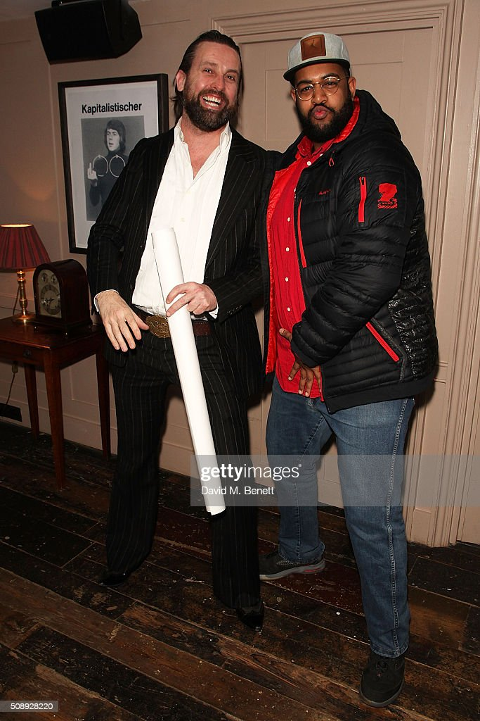 Patrick Brendan O'Neill and Mahir Jamal attend a special screening of 'The Uncountable Laughter of The Sea' at Soho House Dean Street on February 7, 2016 in London, England.