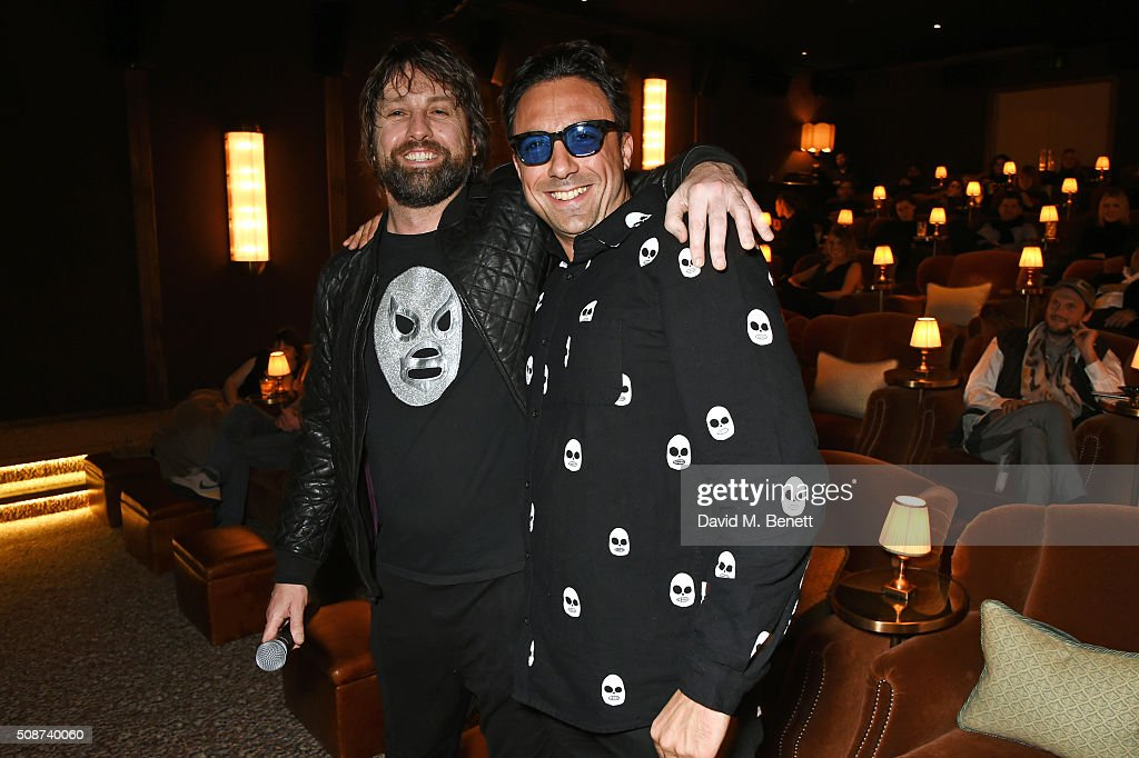 Patrick Brendan O'Neill (L) and Paris Kain attend a special screening of 'The Uncountable Laughter of The Sea' at Soho House Dean Street on February 6, 2016 in London, England.