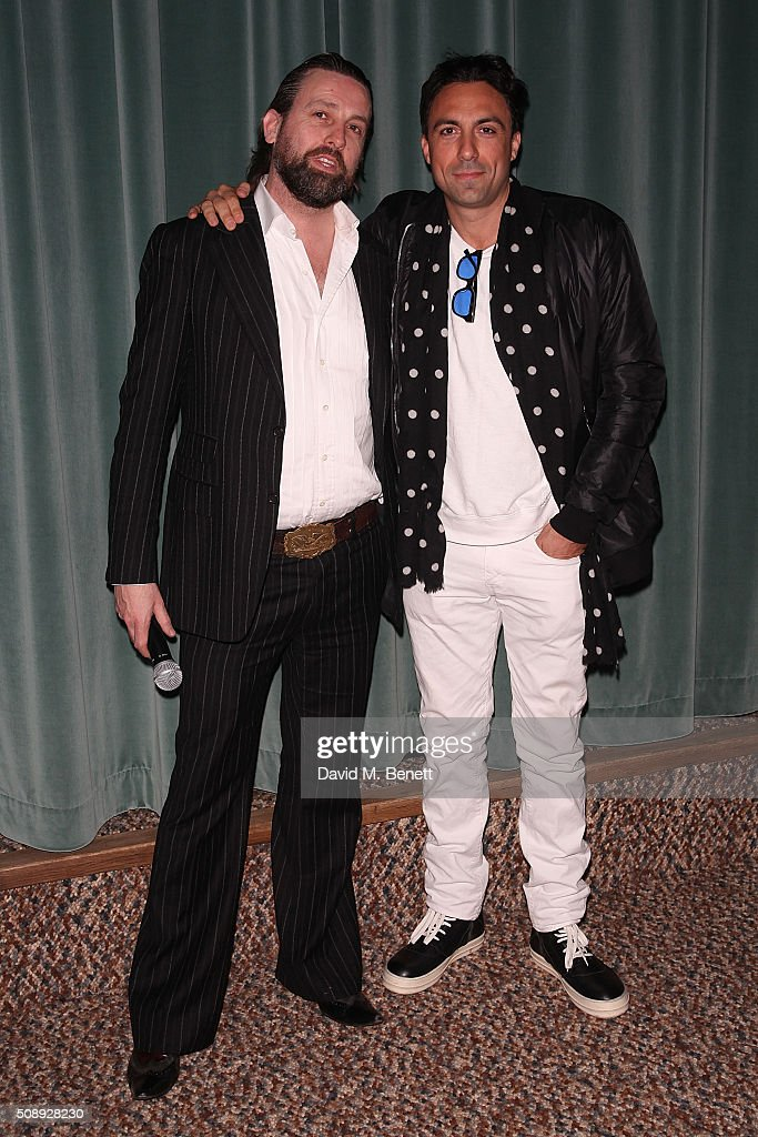Patrick Brendan O'Neill and Paris Kain attend a special screening of 'The Uncountable Laughter of The Sea' at Soho House Dean Street on February 7, 2016 in London, England.