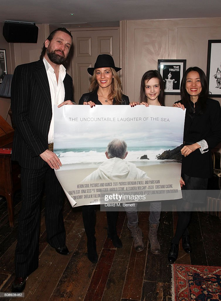 Patrick Brendan O'Neill, Nathalie Lambert, Isabella Barraclough and Hiroko Uchino attend a special screening of 'The Uncountable Laughter of The Sea' at Soho House Dean Street on February 7, 2016 in London, England.