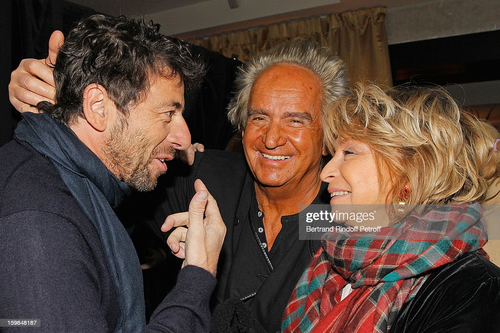 Patrick Bruel, Albert Koski and his wife Daniele Thompson attend 'La Petite Maison De Nicole' Inauguration Cocktail at Hotel Fouquet's Barriere on January 21, 2013 in Paris, France.
