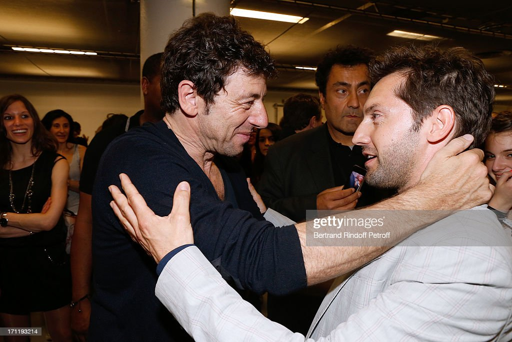 <a gi-track='captionPersonalityLinkClicked' href=/galleries/search?phrase=Patrick+Bruel&family=editorial&specificpeople=549816 ng-click='$event.stopPropagation()'>Patrick Bruel</a> (L) and actor <a gi-track='captionPersonalityLinkClicked' href=/galleries/search?phrase=Frederic+Diefenthal&family=editorial&specificpeople=3205685 ng-click='$event.stopPropagation()'>Frederic Diefenthal</a> backstage after <a gi-track='captionPersonalityLinkClicked' href=/galleries/search?phrase=Patrick+Bruel&family=editorial&specificpeople=549816 ng-click='$event.stopPropagation()'>Patrick Bruel</a>'s last concert in Paris, held at Palais Omnisports de Bercy on June 22, 2013 in Paris, France.