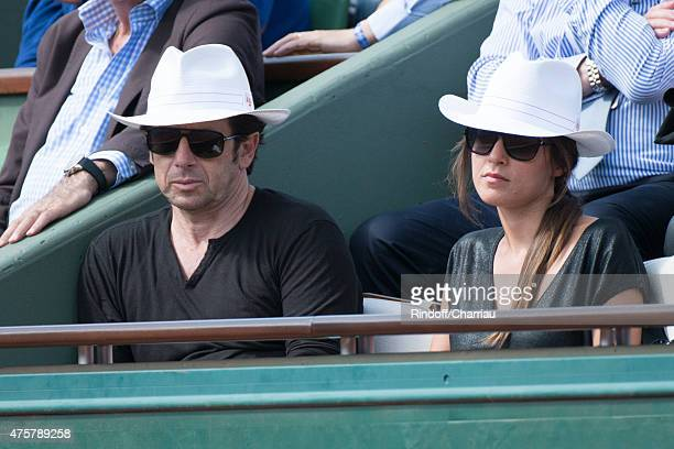 Patrick Bruel and Caroline Nielsen attend the French open at Roland Garros on June 3 2015 in Paris France