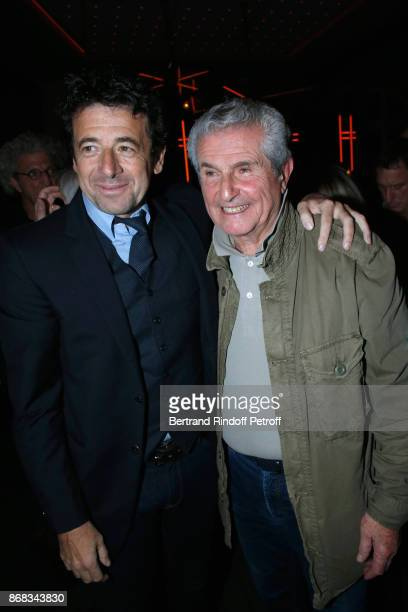 Patrick Bruel and Claude Lelouch attend Claude Lelouch celebrates his 80th Birthday at Restaurant Victoria on October 30 2017 in Paris France