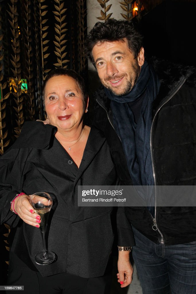 Patrick Bruel (R) and Nicole Rubi attend 'La Petite Maison De Nicole' Inauguration Cocktail at Hotel Fouquet's Barriere on January 21, 2013 in Paris, France.