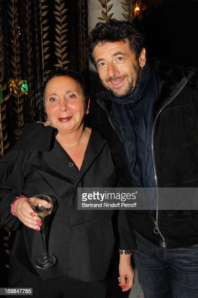 Patrick Bruel and Nicole Rubi attend 'La Petite Maison De Nicole' Inauguration Cocktail at Hotel Fouquet's Barriere on January 21 2013 in Paris France