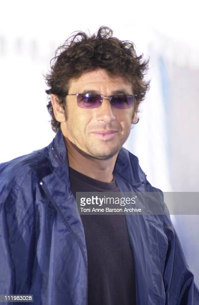 Patrick Bruel during Deauville 2001 Les Jolies Choses Photocall at Centre International Deauville CID in Deauville France