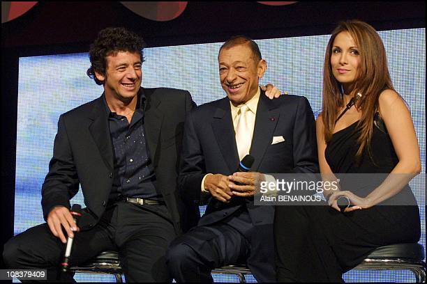 Patrick Bruel Henri Salvador and Helene Segara in Paris France on February 17 2001