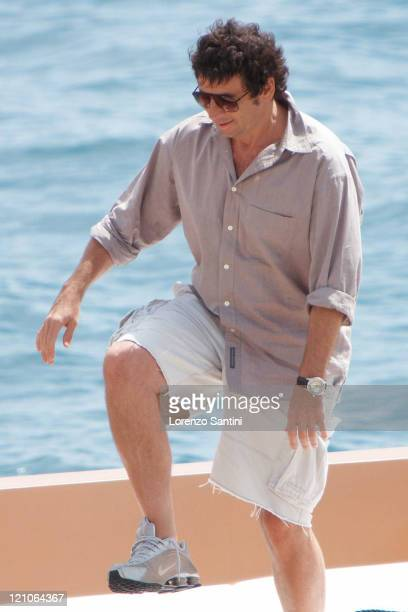 Patrick Bruel leaves the Hotel du CapEden Roc of Cap d'Antibes on May 22 2009 in Cannes France