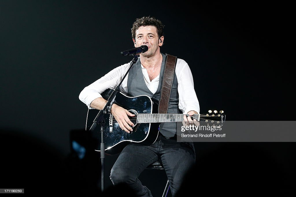 <a gi-track='captionPersonalityLinkClicked' href=/galleries/search?phrase=Patrick+Bruel&family=editorial&specificpeople=549816 ng-click='$event.stopPropagation()'>Patrick Bruel</a> performs at his last concert in Paris, held at Palais Omnisports de Bercy on June 22, 2013 in Paris, France.