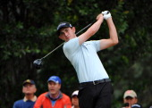 Patrick Cantlay hits a drive on seventh hole during the final round of the Colombia Championship at Country Club de Bogota on March 3 2013 in Bogota...