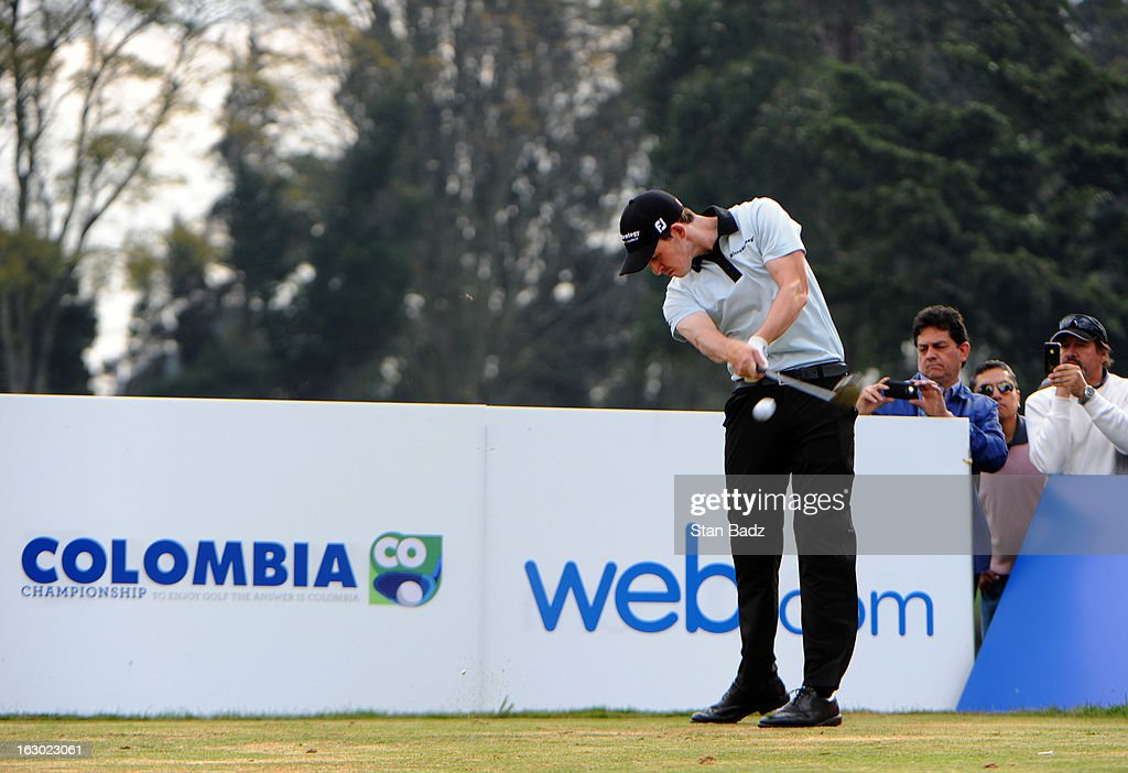 Patrick Cantlay hits a drive on the 17th hole during the final round of the Colombia Championship at Country Club de Bogota on March 3, 2013 in Bogota, Colombia.